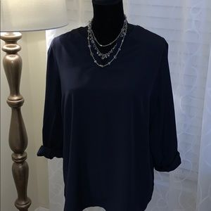 NEW Lands'End Navy top